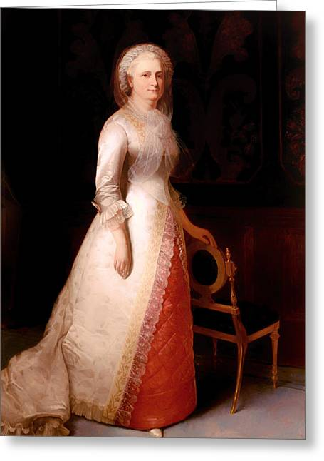 First-lady Greeting Cards - Martha Custis Washington Greeting Card by Eliphalet Andrews