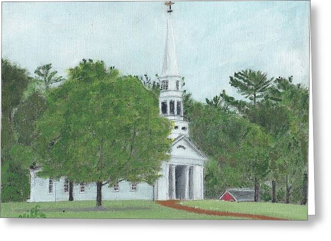 Wayside Inn Greeting Cards - Martha Mary Chapel Greeting Card by Cliff Wilson