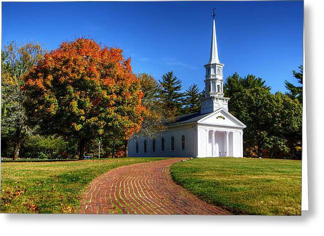 Martha Mary Chapel Greeting Cards - Martha Mary Chapel in Autumn Greeting Card by Donna Doherty