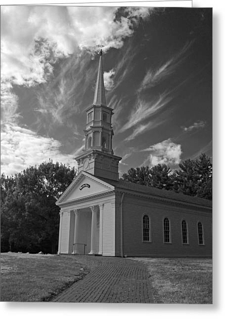 Martha Mary Chapel In Black And White Greeting Card by Suzanne Gaff