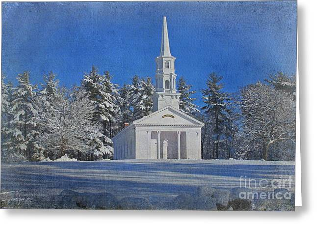 Martha Mary Chapel in Winter Greeting Card by Jayne Carney