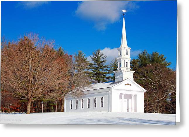Sudbury Ma Greeting Cards - Martha Mary Chapel Greeting Card by Roberto De Souza