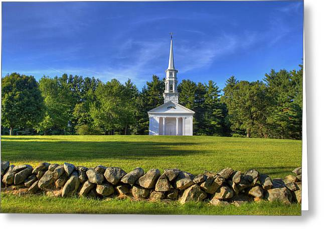 Sudbury Ma Greeting Cards - Martha Marys Chapel Greeting Card by David Simons