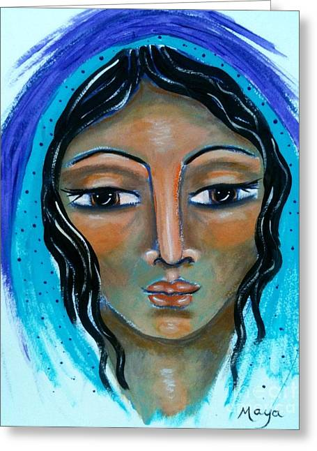 The Sacred Feminine Greeting Cards - Martha Greeting Card by Maya Telford