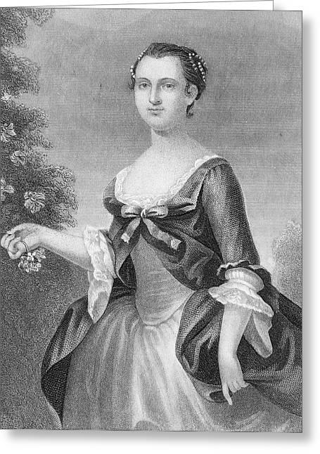 Martha Washington (1732-1801) Greeting Card by Granger