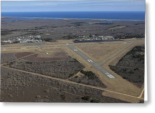 Airport Terminal Greeting Cards - Marthas Vineyard Airport, Marthas Greeting Card by Dave Cleaveland