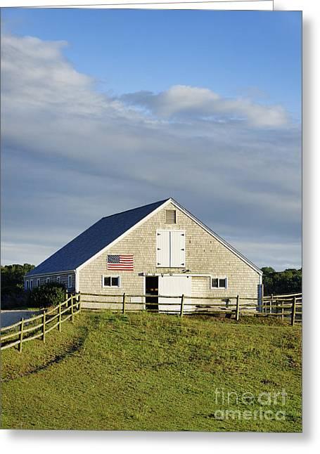 Sweetwater Greeting Cards - Marthas Vineyard Barn Greeting Card by John Greim