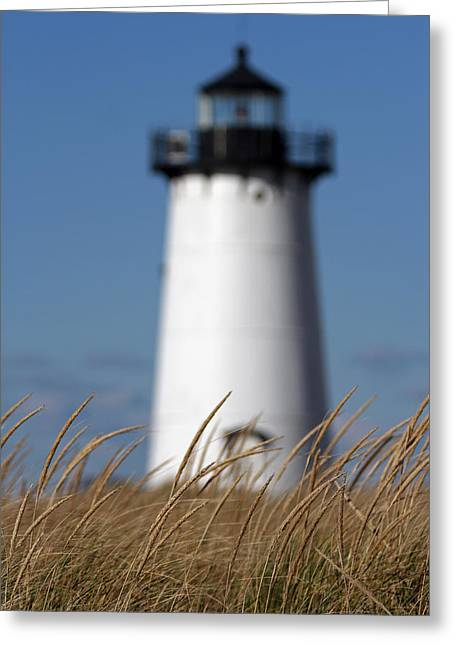 New England Lighthouse Greeting Cards - Marthas Vineyard Edgartown Lighthouse Greeting Card by Juergen Roth