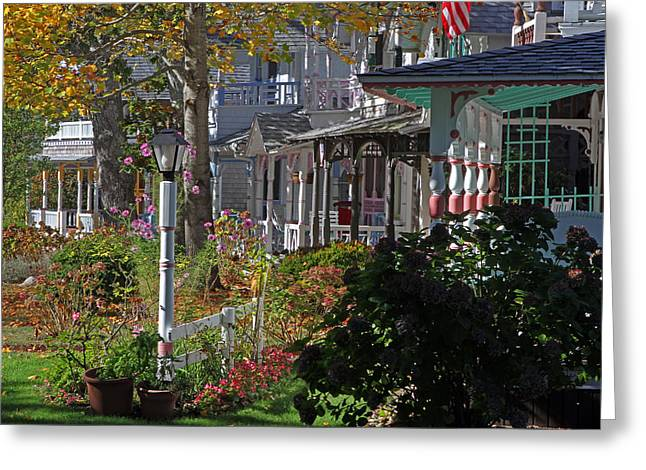 National Treasure Greeting Cards - Marthas Vineyard Gingerbread Houses Greeting Card by Juergen Roth