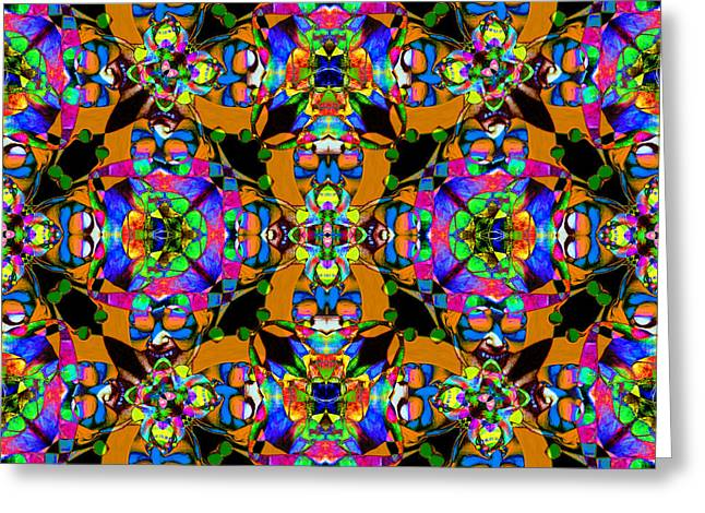 Jester Greeting Cards - Marti Gras Carnival Jester Abstract 20130129v1 Greeting Card by Wingsdomain Art and Photography
