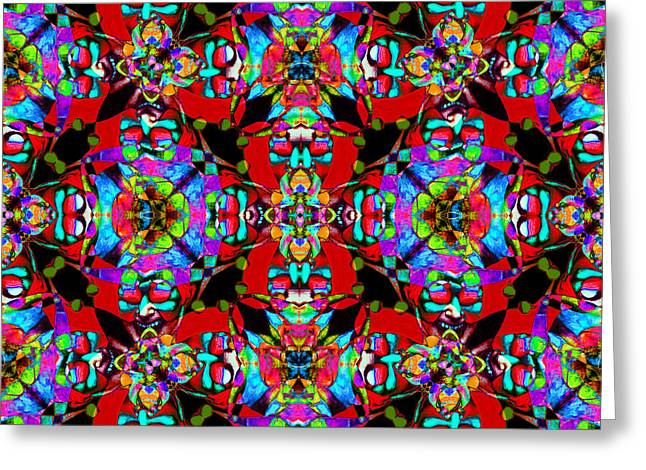 Jester Greeting Cards - Marti Gras Carnival Jester Abstract 20130129v2 Greeting Card by Wingsdomain Art and Photography