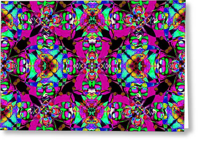 Jester Greeting Cards - Marti Gras Carnival Jester Abstract 20130129v3 Greeting Card by Wingsdomain Art and Photography