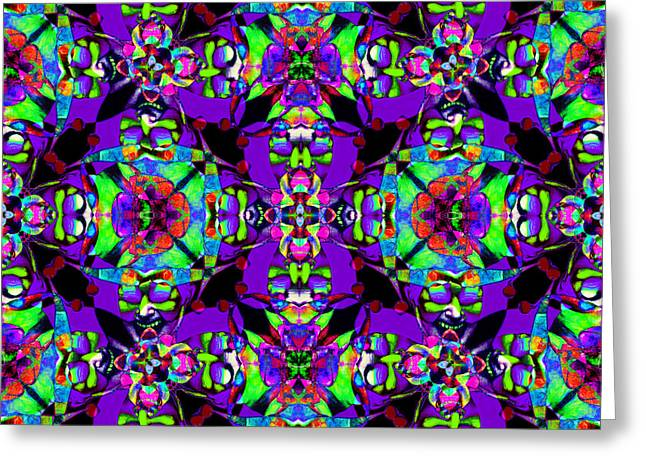 Jester Greeting Cards - Marti Gras Carnival Jester Abstract 20130129v4 Greeting Card by Wingsdomain Art and Photography