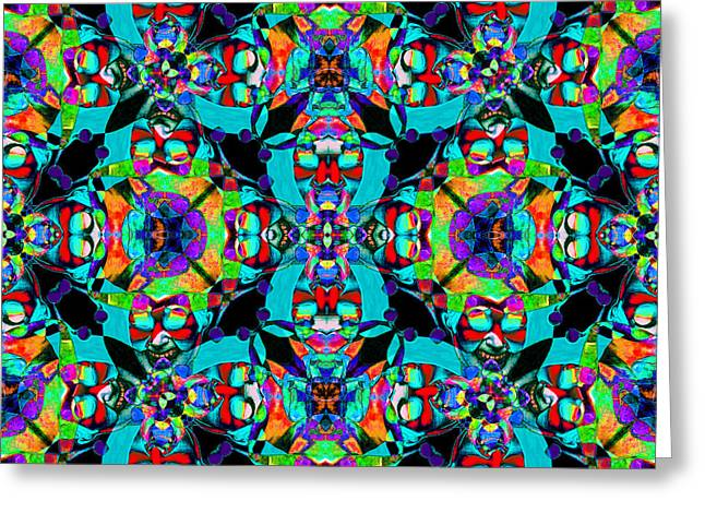 Jester Greeting Cards - Marti Gras Carnival Jester Abstract 20130129v6 Greeting Card by Wingsdomain Art and Photography