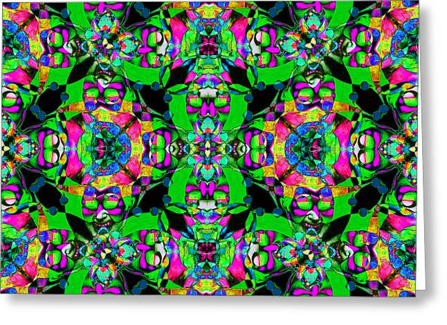 Jester Greeting Cards - Marti Gras Carnival Jester Abstract 20130129v7 Greeting Card by Wingsdomain Art and Photography