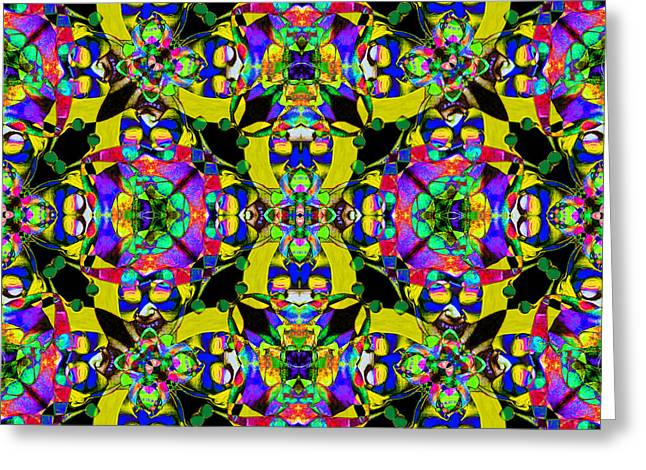 Jester Greeting Cards - Marti Gras Carnival Jester Abstract 20130129v8 Greeting Card by Wingsdomain Art and Photography