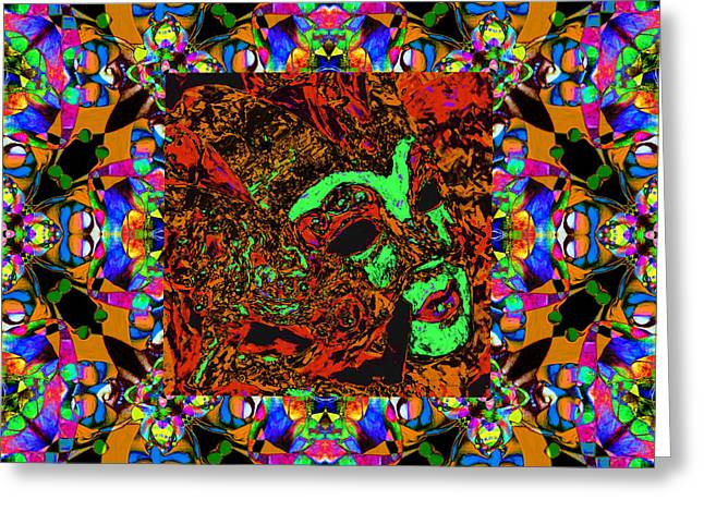 Jester Greeting Cards - Marti Gras Carnival Mask In Jester Window 20130129v1 Greeting Card by Wingsdomain Art and Photography