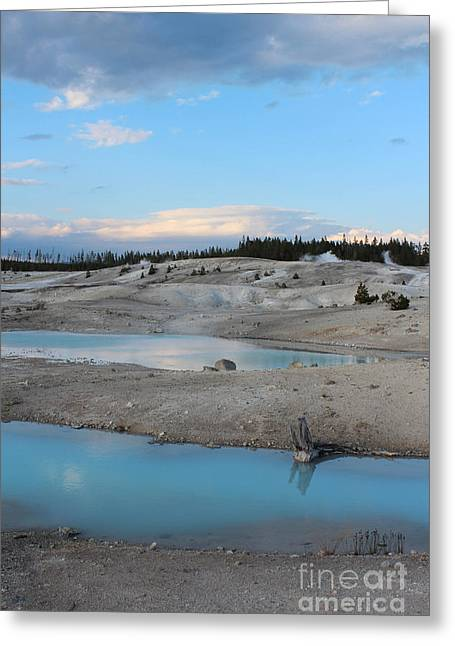 Opalescent Greeting Cards - Martian Landscape at Yellowstone Greeting Card by Kathleen Garman