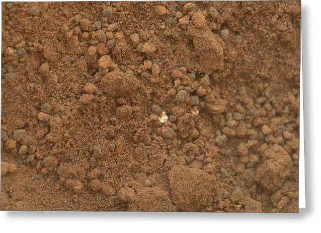 Curiosity Rover Greeting Cards - Martian soil, Curiosity image Greeting Card by Science Photo Library