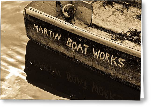 Rockport Ma Greeting Cards - Martin Boat Works Greeting Card by Mike Martin
