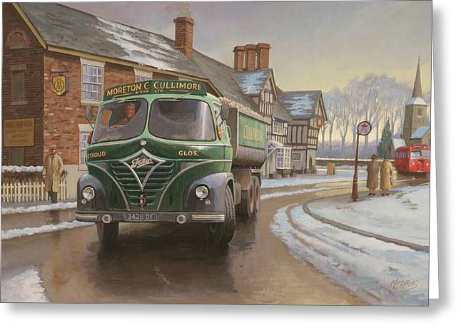 Original For Sale Greeting Cards - Martin C. Cullimore tipper. Greeting Card by Mike  Jeffries