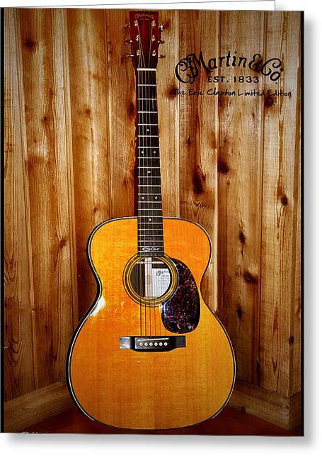 Martin Greeting Cards - Martin Guitar - The Eric Clapton Limited Edition Greeting Card by Bill Cannon