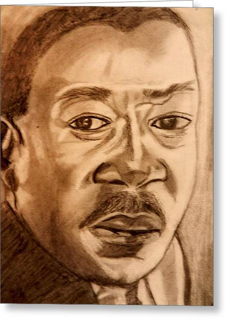 Black History Pastels Greeting Cards - Martin Luther King Greeting Card by Jo-Ann Hayden