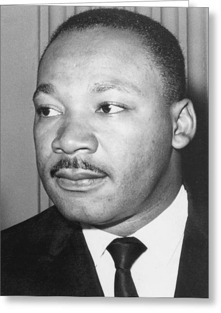 Martin Greeting Cards - Martin Luther King Jr 1929-68 American black civil rights campaigner Greeting Card by Anonymous