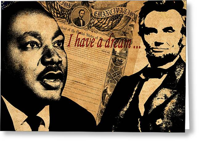 Martin Luther King Jr 2 Greeting Card by Andrew Fare