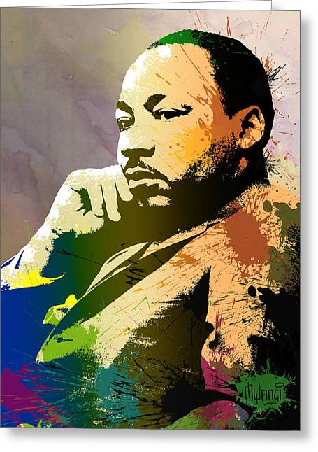 Discrimination Digital Art Greeting Cards - Martin Luther King Jr.  Greeting Card by Anthony Mwangi
