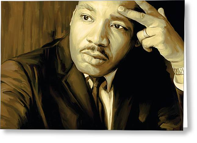 Martin Luther King Jr Artwork Greeting Card by Sheraz A