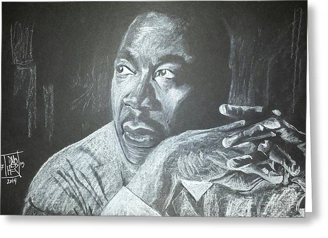 Martin Luther King Jr. Pastels Greeting Cards - Martin Luther King Jr.  Greeting Card by DMo Herr