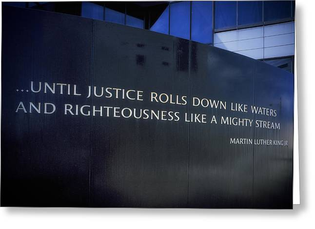 Civil Rights Greeting Cards - Martin Luther King Jr Inscription Greeting Card by Mountain Dreams
