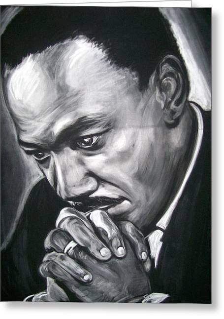 Leaders Pastels Greeting Cards - Martin Luther King Jr Greeting Card by Martha Suhocke