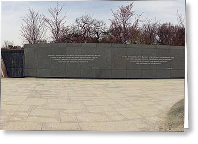 Martin Luther King Jr. Greeting Cards - Martin Luther King Jr. Memorial At West Greeting Card by Panoramic Images