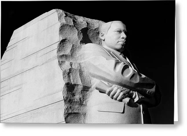 Civil Rights Greeting Cards - Martin Luther King Jr Memorial Greeting Card by Mountain Dreams