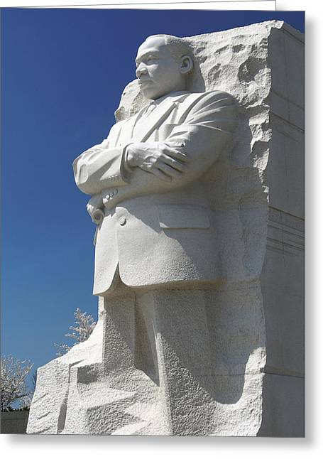 National Mall Greeting Cards - Martin Luther King Jr. Memorial Greeting Card by Mike McGlothlen