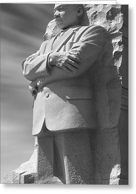 Carved Greeting Cards - Martin Luther King Jr. Memorial - Washington D.C. Greeting Card by Mike McGlothlen