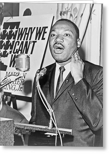 Famous Person Greeting Cards - Martin Luther King Jr Greeting Card by Mountain Dreams