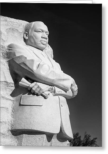 Historic Statue Greeting Cards - Martin Luther King Jr. statue Greeting Card by Celso Diniz