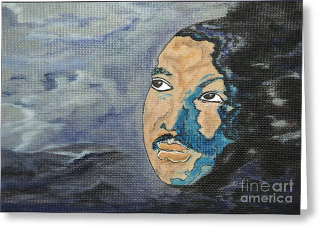 Martin Luther King Jr - Tribute Painting Print Greeting Card by Ella Kaye Dickey