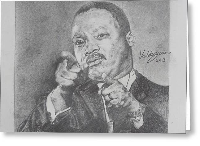 Martin Luther King Jr Greeting Card by Valdengrave Okumu