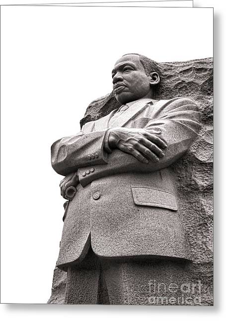 Lei Greeting Cards - Martin Luther King Memorial Statue Greeting Card by Olivier Le Queinec