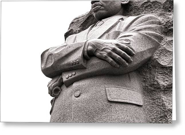Martin Luther King Memorial Statue Greeting Card by Olivier Le Queinec
