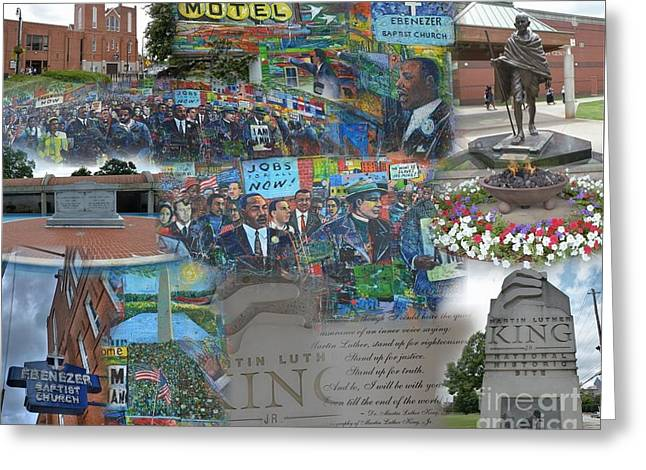 Martin Luther King National Historic Site Greeting Card by David Bearden