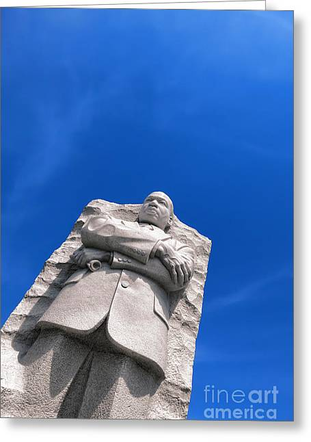 United States Capital Greeting Cards - Martin Luther King Greeting Card by Olivier Le Queinec