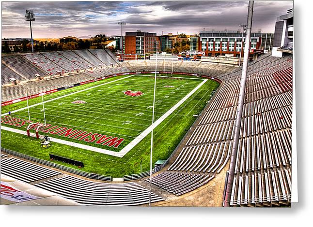 David Patterson Greeting Cards - Martin Stadium at Washington State Greeting Card by David Patterson