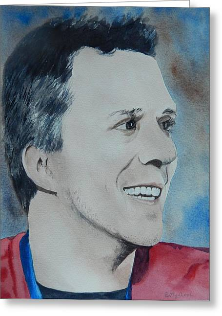 Sochi 2014 Winter Olympics Greeting Cards - Martin St. Louis Greeting Card by Betty-Anne McDonald