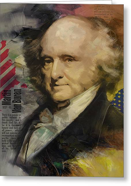 President Adams Greeting Cards - Martin Van Buren Greeting Card by Corporate Art Task Force