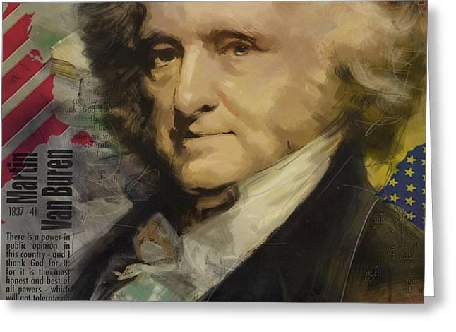 Martin Van Buren Greeting Card by Corporate Art Task Force